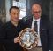 Il sindaco di Gualdo Tadino Presciutti e Yajing Xue