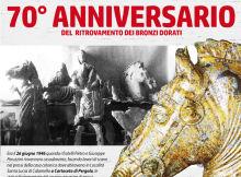 70° anniversario scoperta dei bronzi dorati di Pergola