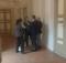 Luca Ceriscioli in colloqui con il sindaco di Pergola nei corridoi della Conferenza dei Sindaci di Urbino del 19 novembre 2016