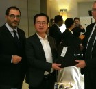 Gianluca Carrabs AU Svim, Mr. Xu Zhihao, CEO of Geely Technology Group Co. Ltd., Luca Ceriscioli Presidente Regione Marche